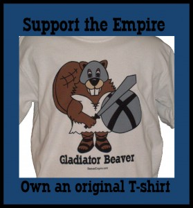 gladiator Beaver Funny Cool T-shirt