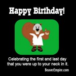 Gladiator Beaver Happy Birthday ECard 1