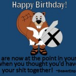 Gladiator Beaver Happy Birthday Ecard 3
