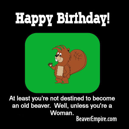 Munch Beaver Happy Birthday ECard 2