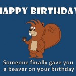 Munch Beaver Happy Birthday ECard 3