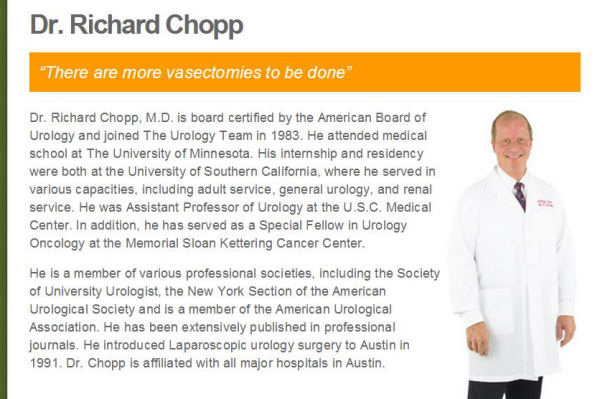 NOOOOO! Doctor Dick Chopp!