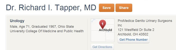 Doctor Dick Tapper Urology